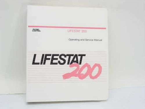 Physio Control 802450-02  LifeStat 200 Operating and Service Manual