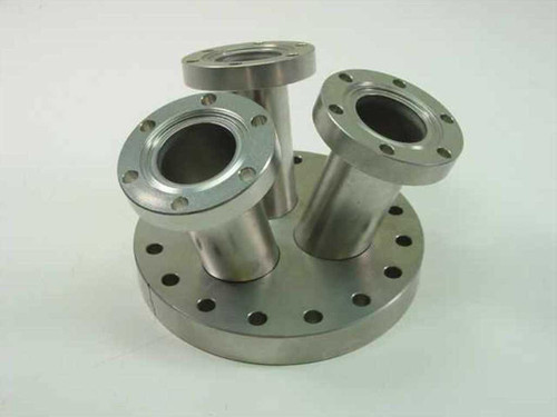 Thermionics Flange Adapter  6 Inch OD 4.5 Inch ID to 3 Each 2.5 Inch OD 1 5/16