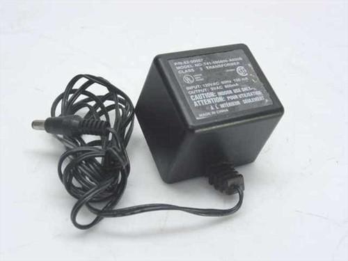 Generic 52-00057  AC Adaptor 9VAC 800mA Barrel Plug
