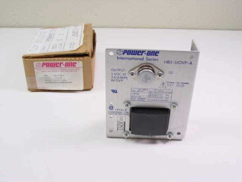 Power One HB5-3/OVP-A  Power Supply 100-240V 47-63Hz In 5VDC 3.0A Out