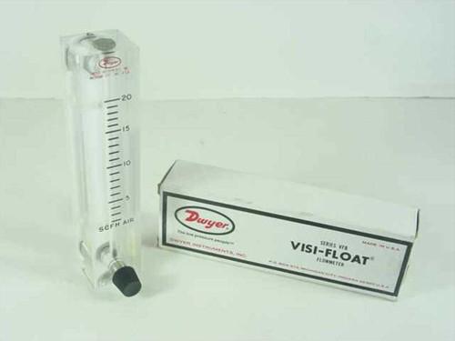 "Dwyer VFB-51-SSV  VISI-FLOAT Flowmeter 2-20 SCFC Air 4"" Scale"