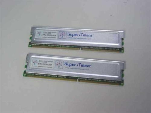 Super Talent D32PA56A  512MB KIT 256MBx2 DDR400 PC3200