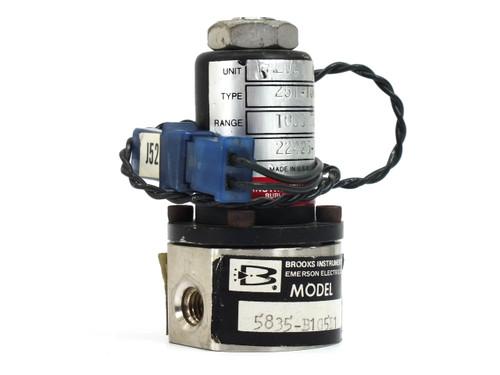 "MKS 5835B1G5E11000 SCCM AIR Mass Flow Control Valve 1/16"" FNPT 251-1000"