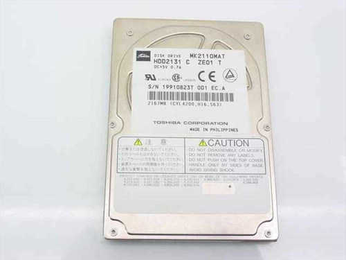 Toshiba MK2110MAT  2167MB Laptop Hard Drive