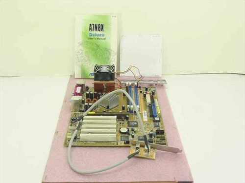 ASUS A7N8X Deluxe  System Board, AMD XP 2800& CPU, User's Manual, Dri