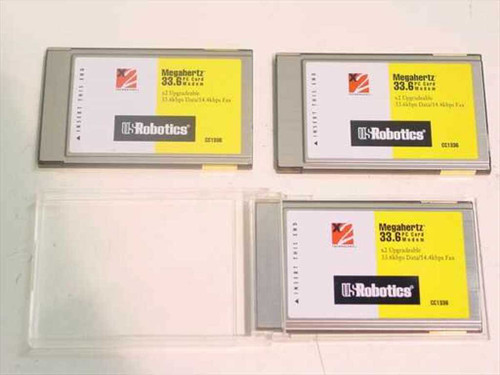 US Robotics  33.6 PCMCIA Modem NO CABLE  CC1336