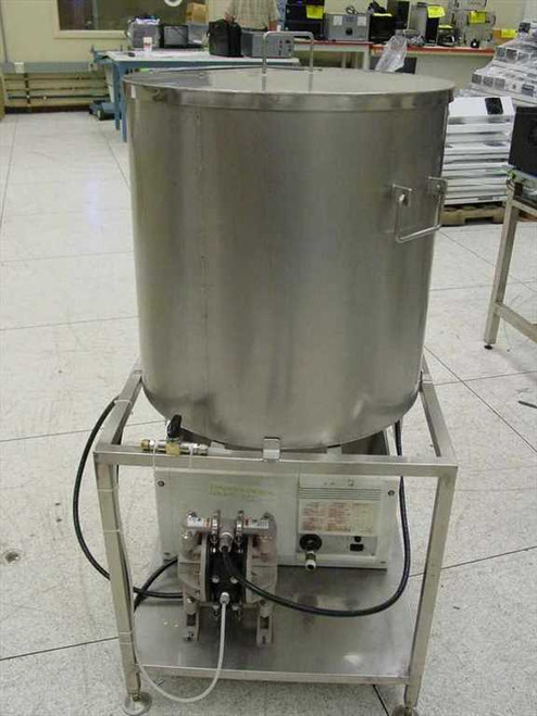"""Stainless Steel Vat  22"""" x 22"""" with Lid w/ ARO Air Pump Holding TanK ~!"""