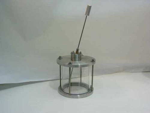 "Vacuum Chamber 8 3/4""  Glass and Stainless Steel with Wobble Stick"