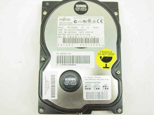 "Compaq 6.4GB 3.5"" IDE Hard Drive - Fujitsu MPC3064AT- 38 (166973-001)"