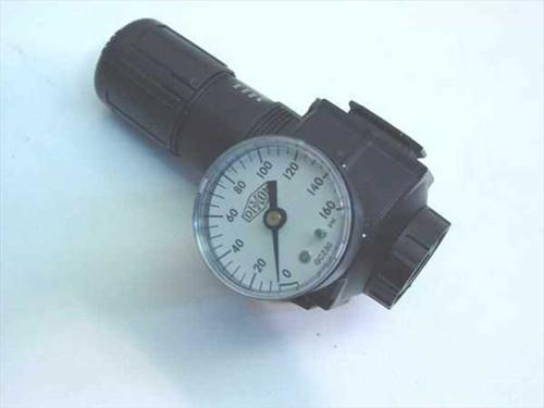 "Dixon R74G-4R  Series 1 Regulator 1/2"" Basic w/gauge"