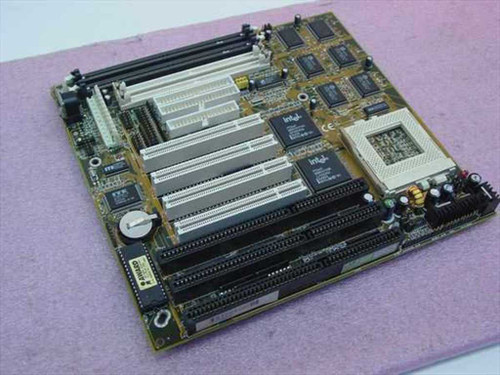 Pentium Socket 7  Motherboard 3 ISA 4 PCI AT Style Power Supply