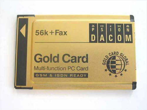 Gold Card Global S99-2318-2 Mulit-Function PCMCIA Card 56k&Fax