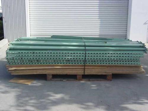 Pallet Model Rack Green  Small Lot of Steel Pallet Rack Shelving