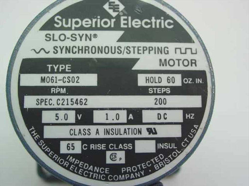 Superior electric m061 cs02 slo syn synchronous stepping for Superior electric slo syn motor