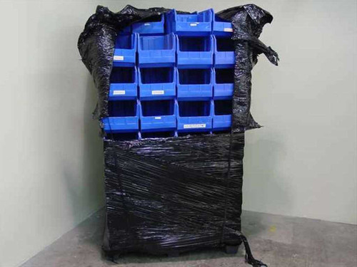 Quantum Storage Systems Ultra 260  Pallet of Stacking Plastic Bin Boxes 62 Boxes