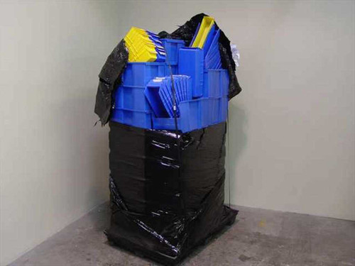 Global Equipment Various  Pallet of Stacking Plastic Bin Boxes