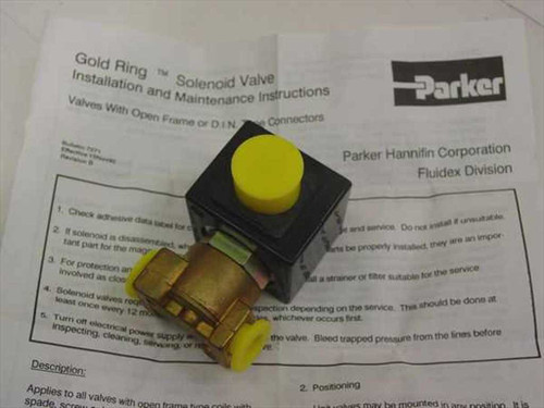 Parker Hannifin Corp 4487  Gold Ring Solenoid Valve in box