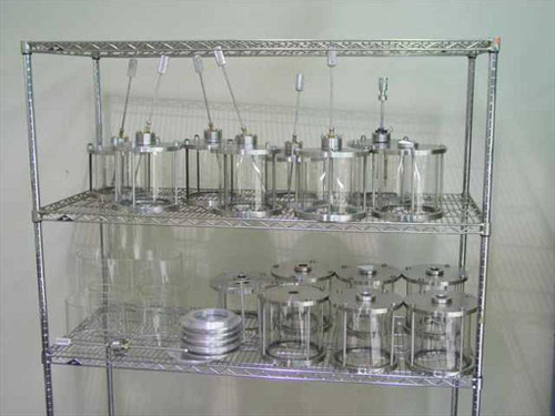 Glass Wobble Stick Test Chamber  Vacuum Chambers - Large Lot