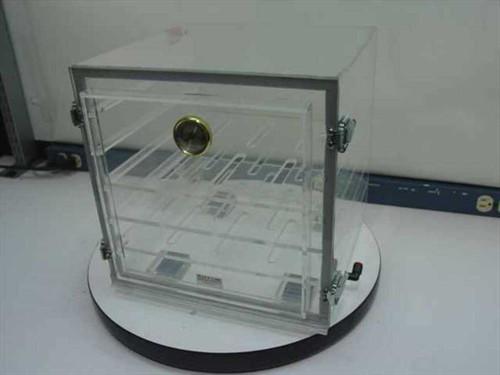 Plas Labs 860-CG  Acrylic Tabletop Desiccator Dry Box 12 x 12 x 12