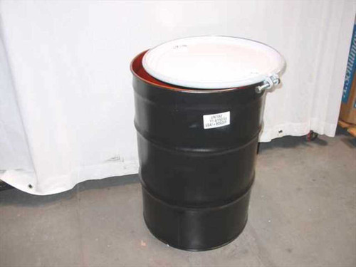 US Container 10392-20  55 Gallon Steel Drum - Black Y1.4/150 w/Lid