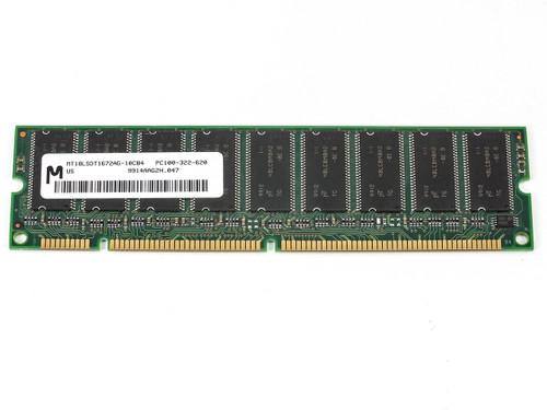 Micron 128MB 168 Pin PC100 Double-Banked ECC SDRAM DIMM (MT18LSDT1672AG)