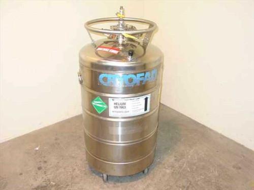 Cryofab CMSH-60  Liquid Helium Dewar 60 Liters Stainless Steel w/Ca