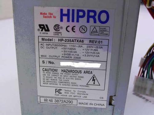 Hipro HP-235ATXA6  235W ATX Power Supply