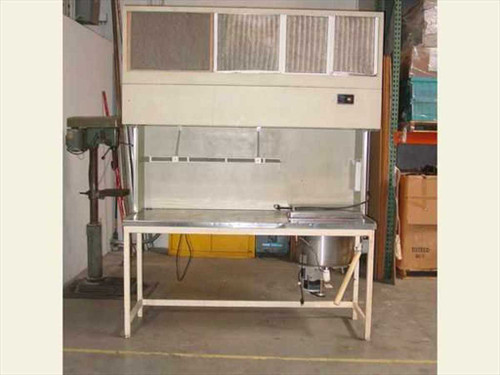 IAS Flow Hood  6' Laminar Flow Hood w/ Work Bench and Wafer Spin