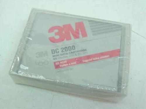 3M DC2000  40 MB Mini Data Cartridge QIC-40 (NEW)