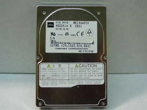 Toshiba MK1924FCV  527MB Laptop Hard Drive