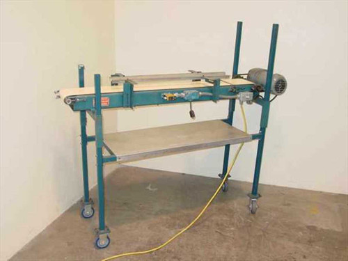 """Molded Container Corp. Feeder  Conveyor Belt System 7"""" Wide by 56"""" Long"""