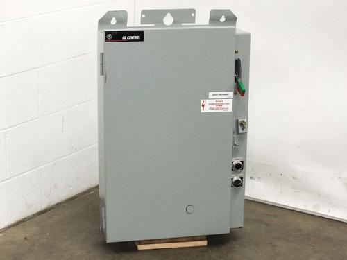 GE 40HP Pumping Plant Panel Outdoor Enclosure Disconnect 500VA Transformer CR341