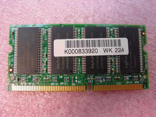 Nanya 256MB PC133   256MB PC133 SODIMM 144-pin CL3 Laptop Memory