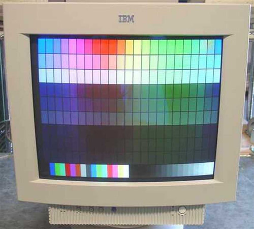 "IBM 6547-0AN  17"" G74 SVGA Monitor W/Base"