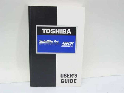 Toshiba Satellite Pro 480CDT  Laptop User's Guide Paper Back Manual
