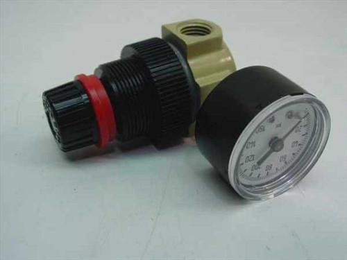 Dixon Mini Regulator 1/4 Inch 22 CFM with Gauge (R07-200-R)