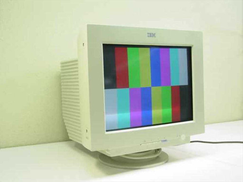 "IBM 6627-OAN  17"" Flat Screen CRT Monitor - Beige G78"