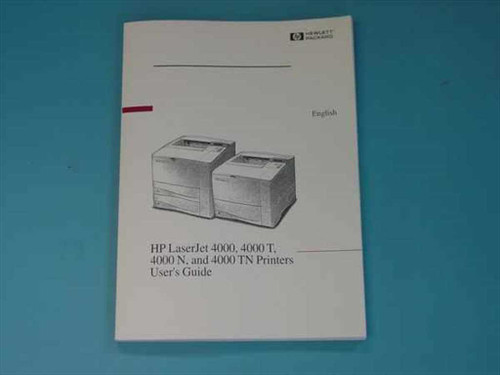HP C4118-91159  Laserjet 4000 Printer T/N/TN User's Guide