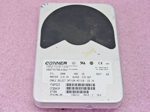 "Conner CFS541A  540MB 3.5"" IDE Hard Drive"