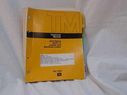 John Deere TM-1092  John Deere JD401-C Loader Backhoe Loader Technical