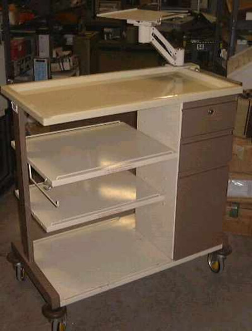 Inmac 64628  Portable medical Equipment cart with Monitor Stand