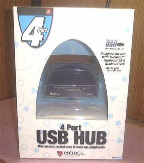 Xircom HUB-4U  USB 4 Port Hub 2 USB 1 Serial 1 Parallel