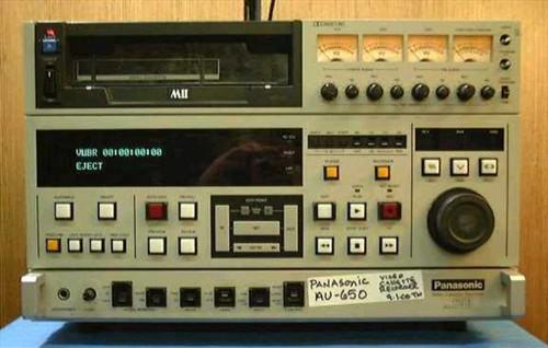 Panasonic AU-650  Professional Video Editing Deck MII Format