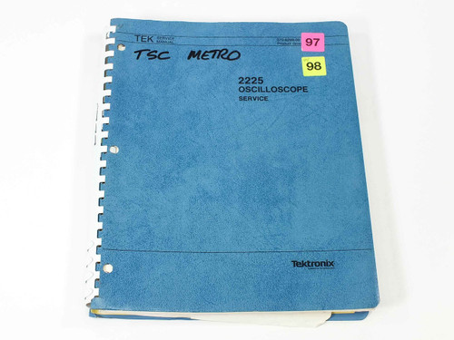 Tektronix 2225  Oscilloscope Service Manual
