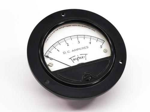 """Triplett Generic 0-5 D.C. Amperes Gauge 2.75"""" Panel Mount - Amp Meter"""