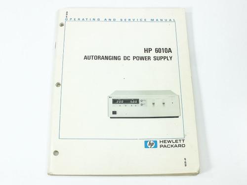 hp 6010a autoranging dc power supply operating and service manual rh recycledgoods com HP Desktop Power Supply Light HP Desktop Power Supply Light