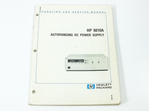 HP 6010A  Autoranging DC Power Supply Operating and Service Manual