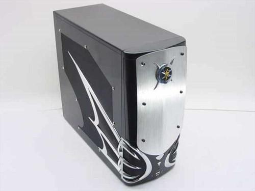 Generic Designer Computer Case (black with wings)