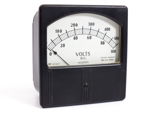 Weston Electrical Model 741  0-100 D.C Volts Gauge