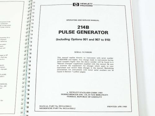 Hp 214b manual